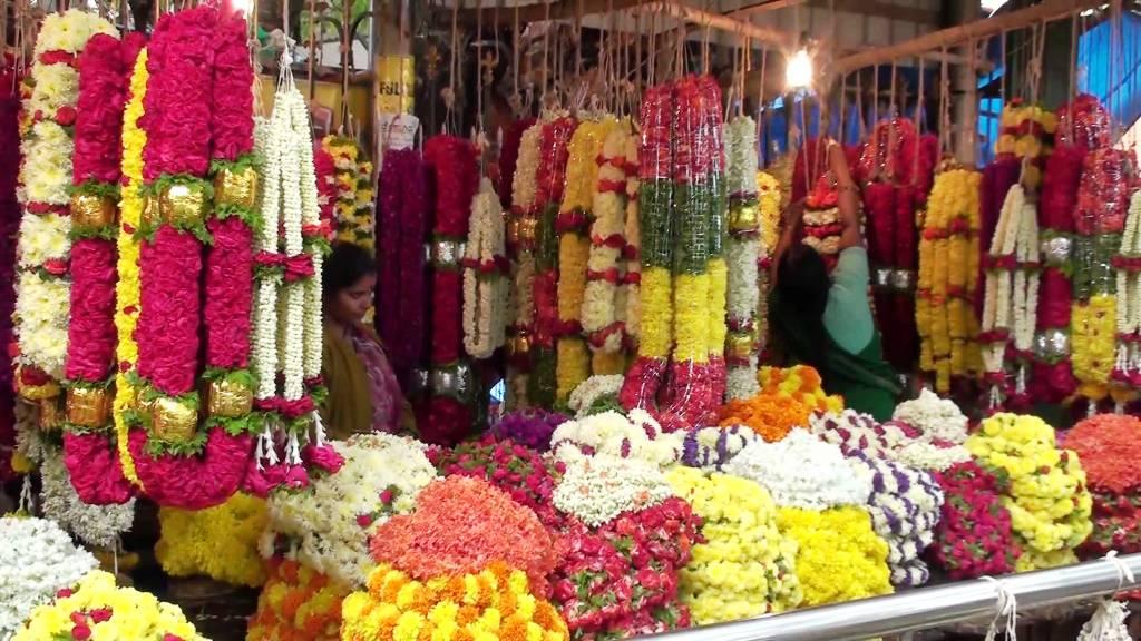 Local Flower Market in Madurai